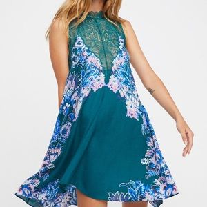 FREE PEOPLE high neck lace dress